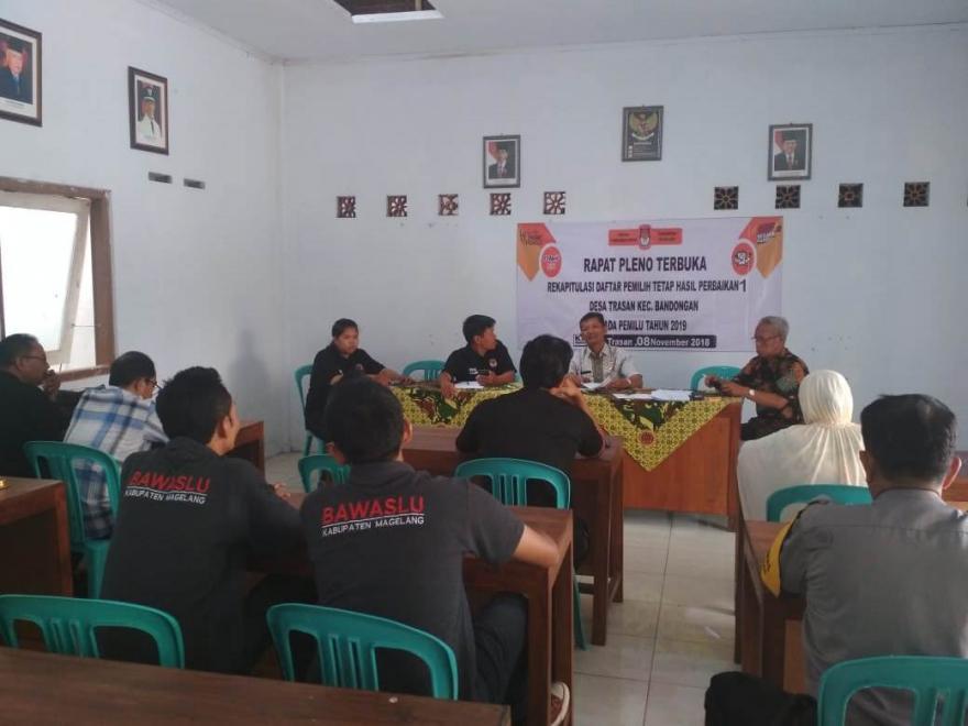 Image : Pleno rekap DPT Hasil Perbaikan
