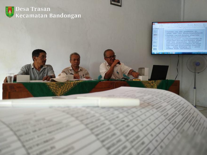 Image : Penetapan DPS Pilkades Trasan 2019