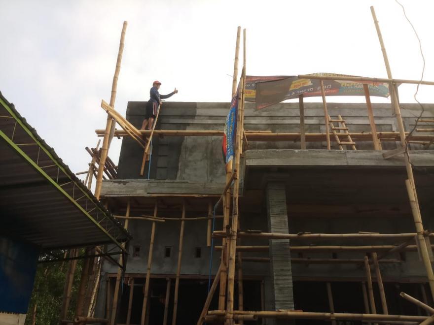 Image : Proses Pengerjaan Bangunan Bumdes Trasan Mandiri